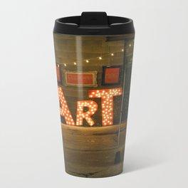 Art letters Metal Travel Mug