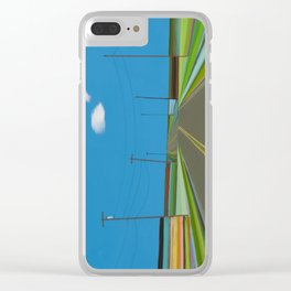 Montauk Highway Clear iPhone Case
