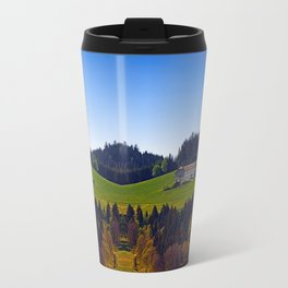 A farm, blue sky and some panorama | landscape photography Travel Mug