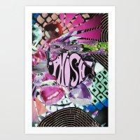 phish Art Prints featuring Purple Phish by John Turck
