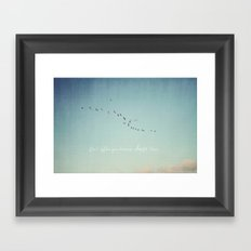 Don't Follow Your Dreams, Chase Them Framed Art Print