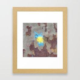 NVSV SPCS_yellow and blue blaze Framed Art Print