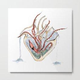 Heart Aquarium Metal Print