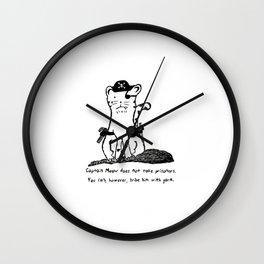Captain Meow Wall Clock