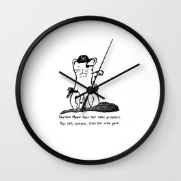 Captain Meow Wall Clock