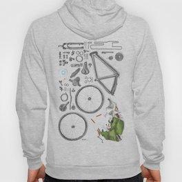 a bike's flatlay Hoody