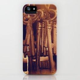 Hanging Keys+Bokeh iPhone Case