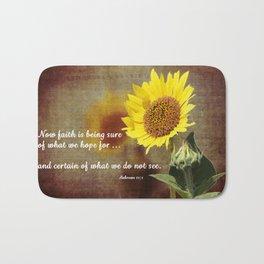 Faithful Sunflower Bath Mat