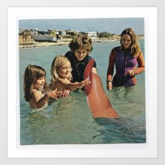 Wait, I Thought It Was Shark Week? Art Print