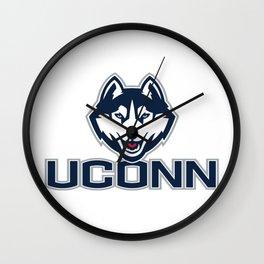 UConn an the Husky Wall Clock