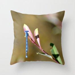 Blue Lady Throw Pillow