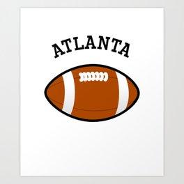 Atlanta American Football Design black lettering Art Print