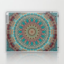 Vintage Turquoise Mandala Design Laptop & iPad Skin