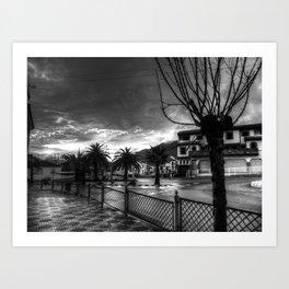 Duro invierno Art Print