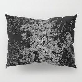 Brisbane map Australia Pillow Sham