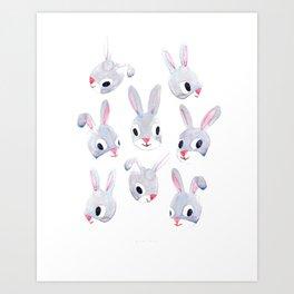 My Sis's Bunny2 Art Print