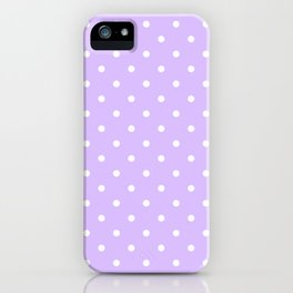 Lavender Polka Dots iPhone Case
