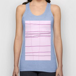 Straight lines with a twist no. 4 Unisex Tank Top