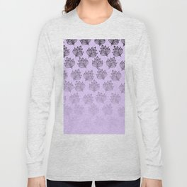 Abstract hand painted black lavender ombre floral Long Sleeve T-shirt