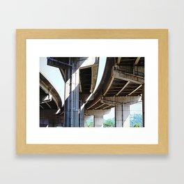 Overpasses Framed Art Print