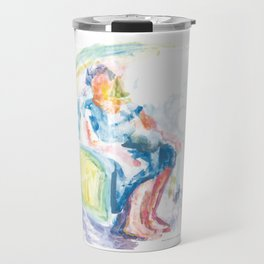 Woman in an armchair 2 watercolor Travel Mug