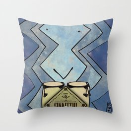 Cikkitthi from < Q > (Congas) Throw Pillow
