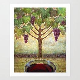 I AM the True Vine Art Print