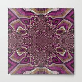 Interrupted Lines Mirror Pattern 1 Metal Print