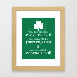 Fabricated Irish Sewing Blessing Framed Art Print