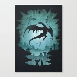 Dragons Dawn Canvas Print