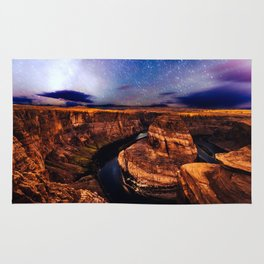 Horseshoe Bend Starseeds - Starry Sky Night at Grand Canyon Arizona Rug