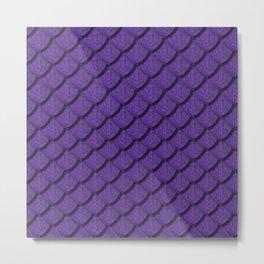 Elegant Violet Dragon Scale Metal Print