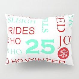 Christmas Subway Art 1.0 Pillow Sham