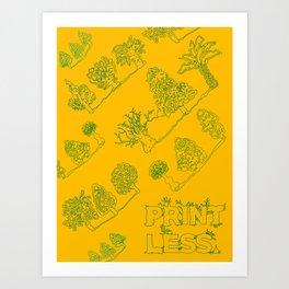 Print Less Pattern Poster Art Print