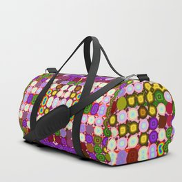 Ornamental-rounded-pattern Duffle Bag