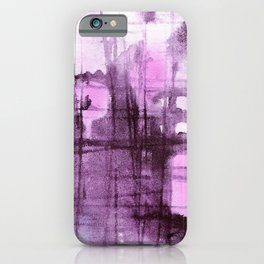 Purple Grid iPhone Case