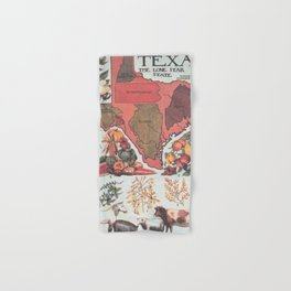 Vintage Texas Agricultural Map (1922) Hand & Bath Towel