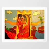 bride Art Prints featuring Bride by Sreetama Ray