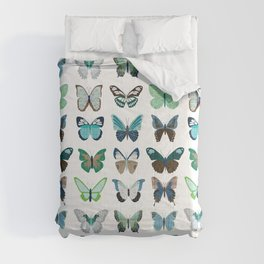 Green and Blue Butterflies Comforters