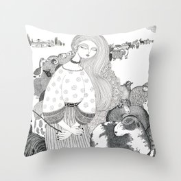 In a place far far away Throw Pillow