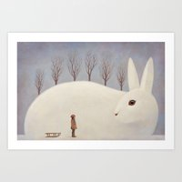 Winter morning Art Print
