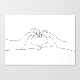 Hand Heart Canvas Print