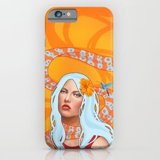 Hummingbird Girl with Orange Swirls iPhone 6s Slim Case