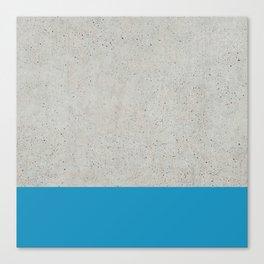 Concrete Blue Canvas Print