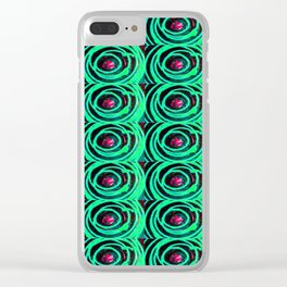 Circle design number 7 Clear iPhone Case