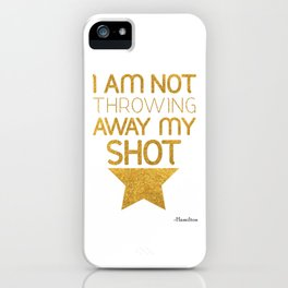 Hamilton Broadway Musical iPhone Case