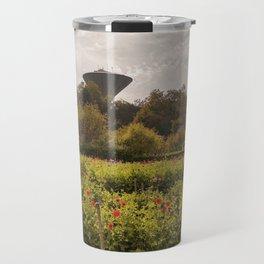 Flower field at daytime Travel Mug