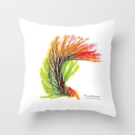 Tillandsia Funckiana Air Plant Watercolors Throw Pillow