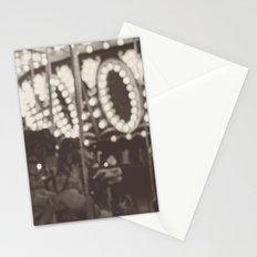 Fuzzy Carousel - B&W Stationery Cards