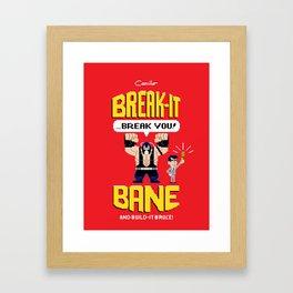 Break-It Bane w/ Build-It Bruce variant Framed Art Print